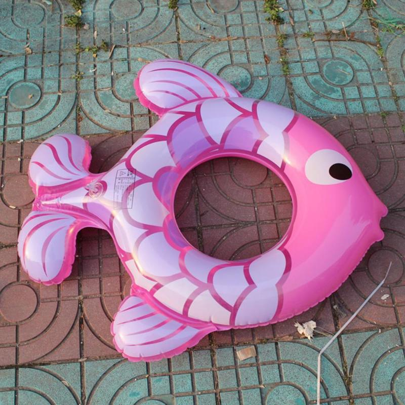 Kids Baby Cute Bath Toys Cartoon Animal Fish Shaped Inflatable Swimming Ring Children Training Swimming Pool Floats Seat Summer