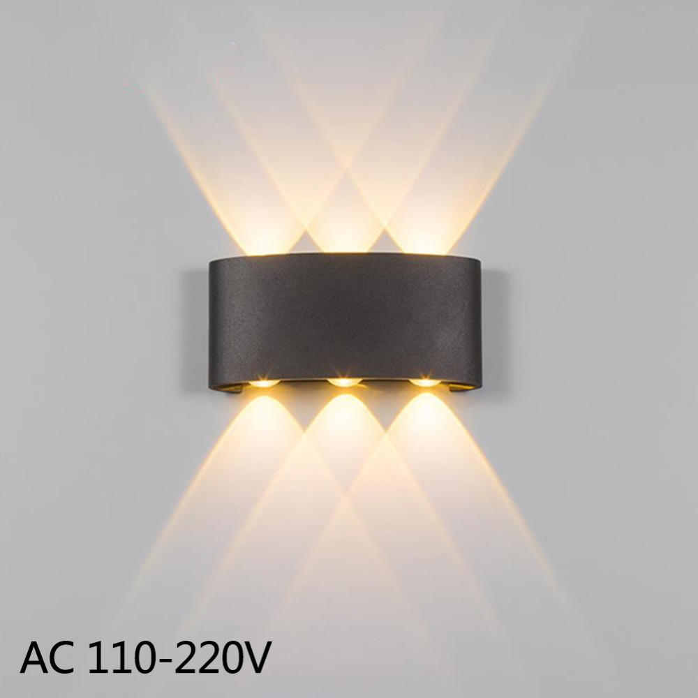 LED Wall Sconce Lamp 2W 4W 6W Led Outdoor Wall Lamp IP65 Surface Mounted Outdoor Led Cube Lamp Wateproof Up And Down