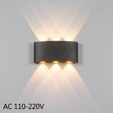 Led duvar aplik lamba 2W 4W 6W led dış duvar lambası IP65 yüzeye monte açık led küp lamba su geçirmez Yukarı ve aşağı