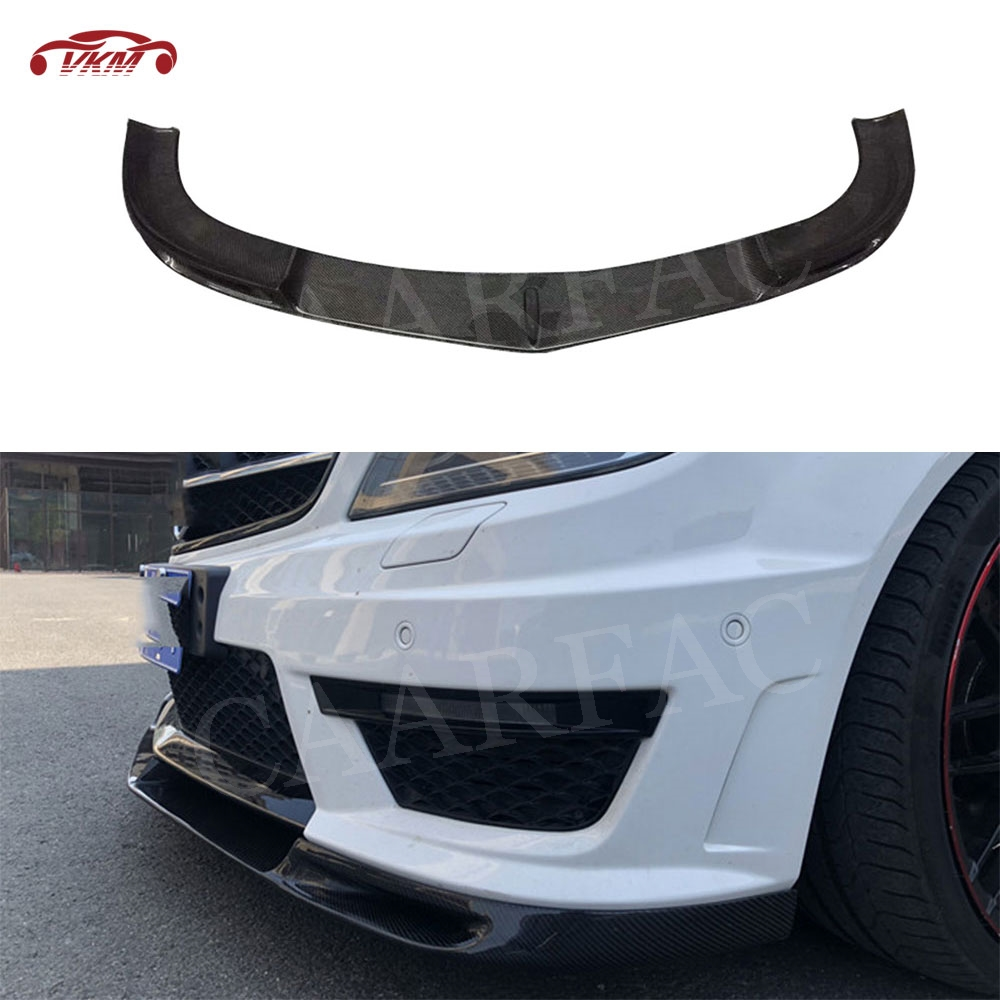 For <font><b>W204</b></font> Carbon Fiber <font><b>Front</b></font> <font><b>Lip</b></font> Spoiler Splitters Flaps for Mecedes <font><b>Benz</b></font> C Class <font><b>W204</b></font> C63 AMG 2012-2014 Head Bumper Chin image