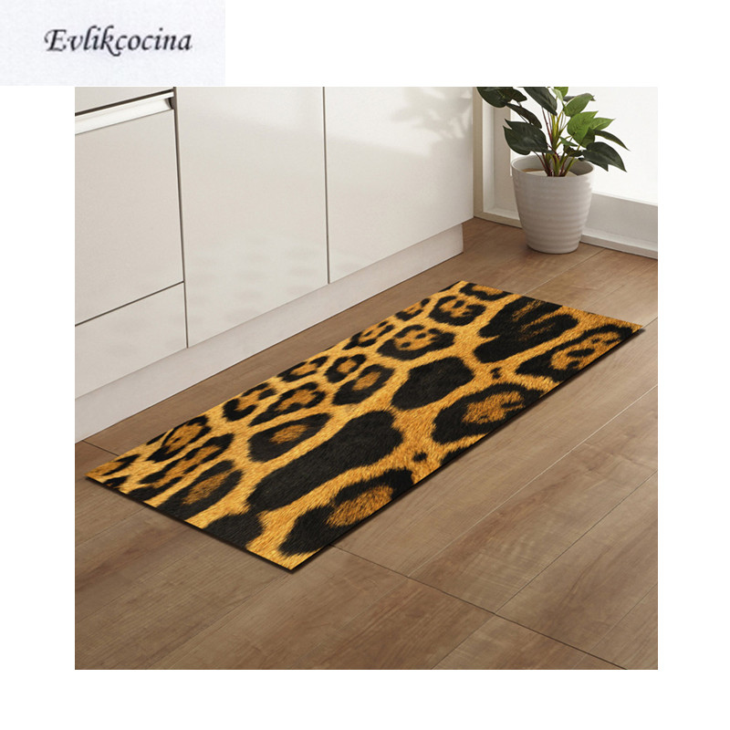 Free Shipping Leopard Artificial Fur Rug Badkamer Bath Mat Door Floor Tapete Banheiro Carpet For Toliet Non Slip Alfombra Bano
