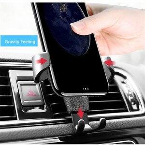 Image 5 - פופ רכב הכבידה טלפון מחזיק רכב אוויר Vent הר Stand לא מגנטי נייד טלפון מחזיק אוניברסלי הכבידה Smartphone Stand