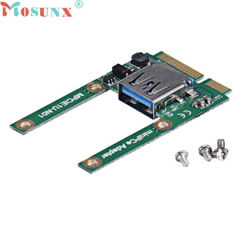 Mosunx Mecall Mini PCe USB 2.0 Adapter Mini PCI-E To USB 2.0 Card Free Shipping