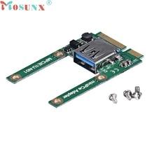 mosunx Mecall Mini PCe USB 2.0 Adapter Mini PCI-E To USB 2.0