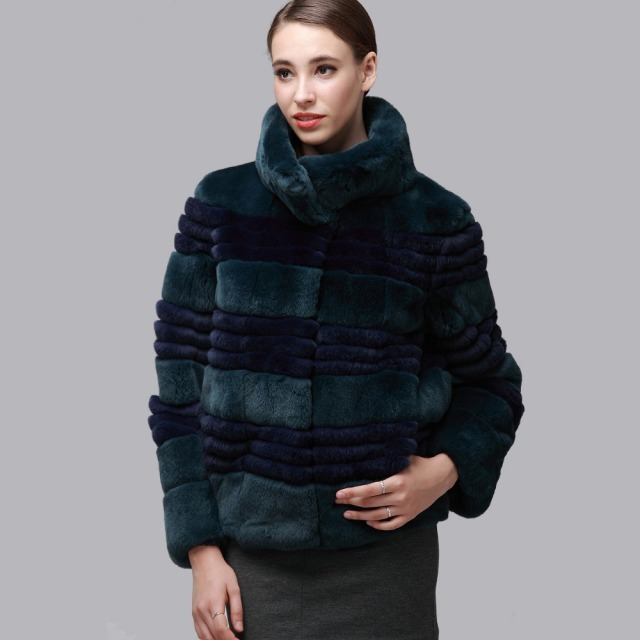 Aliexpress.com : Buy FALAPU 100% real rabbit fur coats women ...