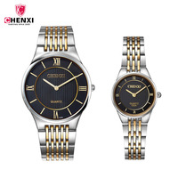 CHENXI Luxury Lover Watch Pair Waterproof Ultra thin Men Women Couples Lovers Watches Set Wristwatches Relogio Feminino 31