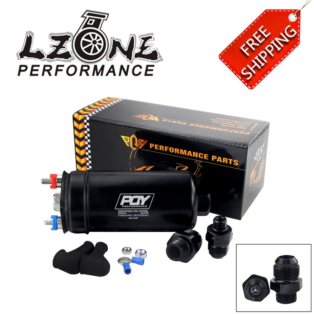 LZONE - FREE SHIPPING EFI 380LH 1000HP TOP QUALITY PQY External Fuel Pump E85 Compatible 044 style New WITH PQY BOX JR-FPB003-QY lzone racing black aluminium fuel surge tank with cap foam inside fuel cell 40l without sensor jr tk21bk
