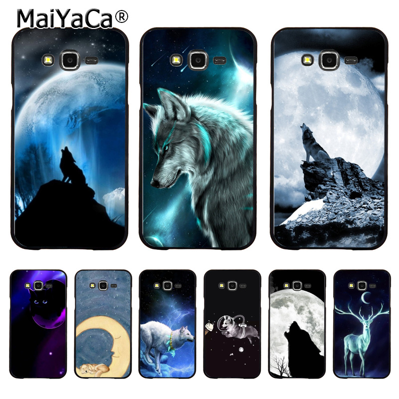 Maiyaca Cute Animals Dog Wolf Lying On The Moon Cell Phone Case For Samsung J7 J8 J6 J2pro A9 A6 A8 Case Coque Fragrant Aroma Cellphones & Telecommunications