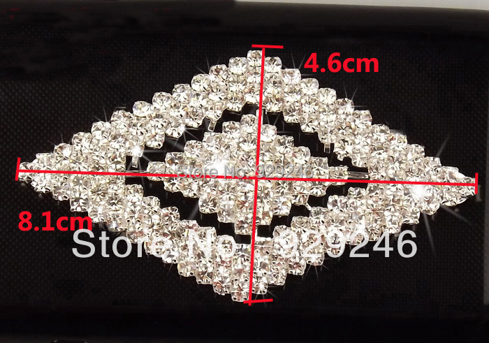 1pc lot diamond shape clear crystal rhinestone applique shiny strass button  for hat dress belt sewing decoration coat big button-in Rhinestones from  Home ... b8d6400c8e65