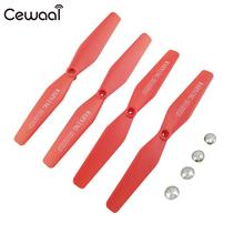 Blade Propellers Premium Airscrew Drone Fans Multi-Functional 4PCS Red Accessories for SG700/Xs809/S9/S25
