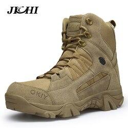 2018 Зимние Модные военные ботинки мужские удобные ботильоны Мужская Рабочая обувь армейские дезерты армейские ботинки мужская зимняя обувь