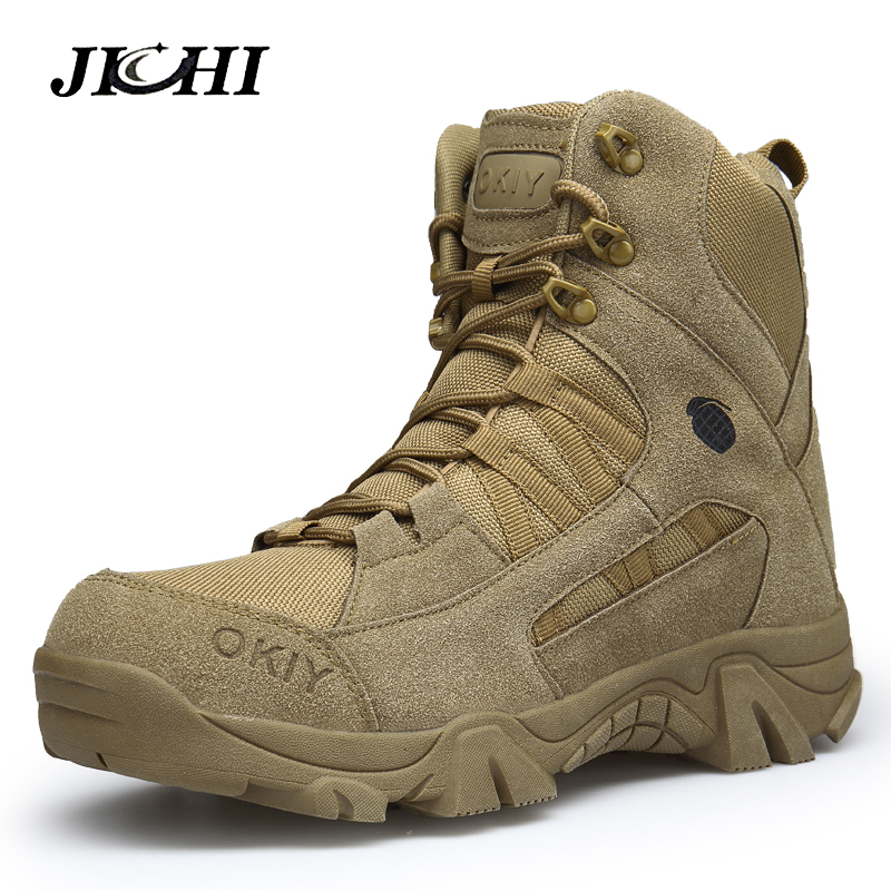 2018 Winter Fashion Military Boots Men's Comfortable Ankle Boots Men Work Shoes Army Desert Combat Boots Men Snow Footwear