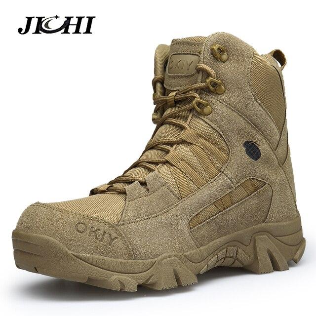 2018 Winter Mode Militaire Laarzen mannen Comfortabele Enkellaarsjes Mannen Werken Schoenen Army Desert Combat Laarzen Mannen Sneeuw Schoeisel