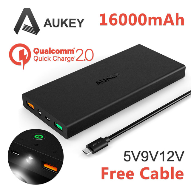 new quick charge 16000mah mobile power bank portable external battery 5v 9v 12v support quick. Black Bedroom Furniture Sets. Home Design Ideas
