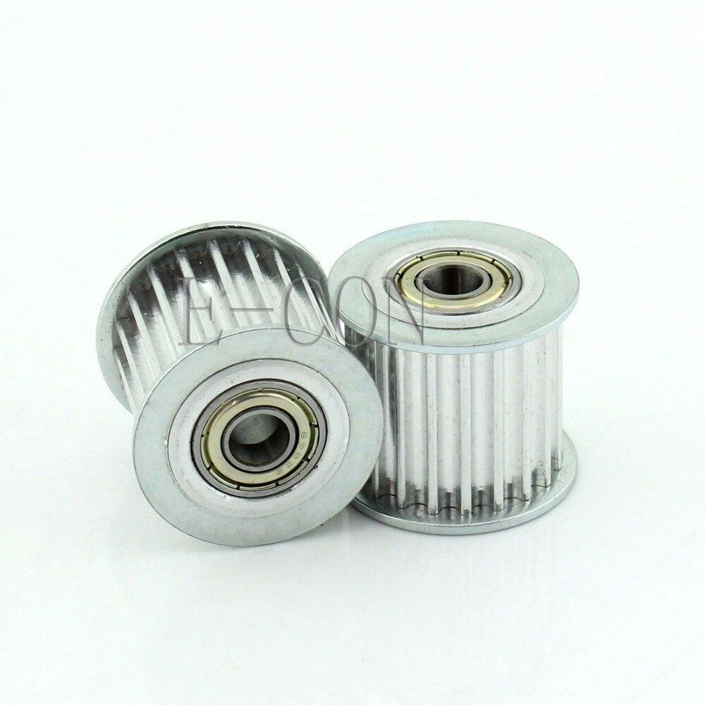 5M HTD5M Aluminum Timing Belt Pulley 20 Teeth 5mm Bore 21mm width Stepper Motor