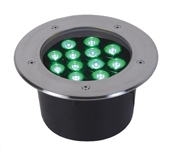 4pcs/lot led underground lamp 12*1w 220*H90mm Stainless steel body buried light/inground lamp,garden/outdoor using,free shipping wholesale 2pcs lot 18w led underground light stainless steel blue green red yellow for private garden spotlight led luminaria