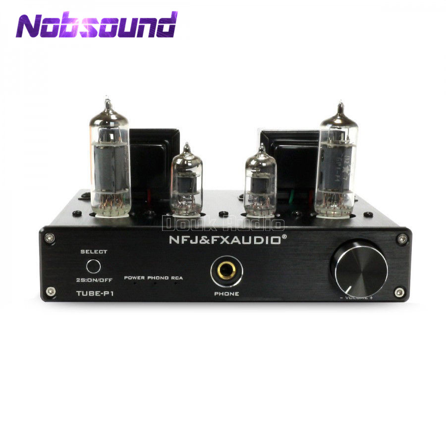 6J1+6P1 Stereo Vacuum Tube Amplifier with Phono MM Input Class A Single-Ended Integrated Amplifier iwistao single ended tube amplifier class a 2x4 8w 6j1 drive 6p6p retro style bamboo wood casing scaffolding soldering