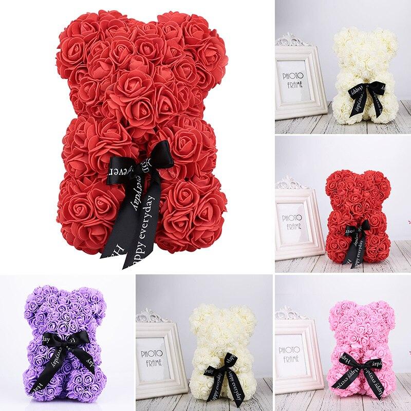 Toy Dolls Romantic-Decorations Rose Gift Girlfriend Artificial Wedding-Valentine's Bear