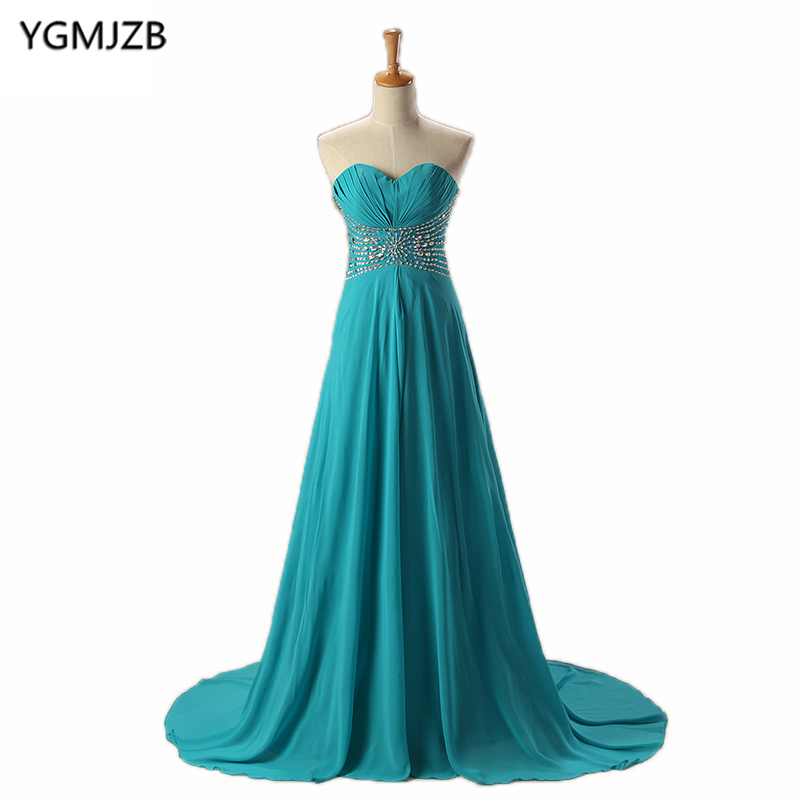 Cheap   Bridesmaid     Dresses   A Line Sweetheart Floor Length Beaded Sequined Chiffon Wedding Party   Dresses   Long   Bridesmaid     Dress   2018