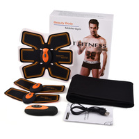 Wireless Remote ABS Stimulator With Toning Belt Rechargeable EMS Abdominal Muscle Trainer Tens Pulse Massager Slimming