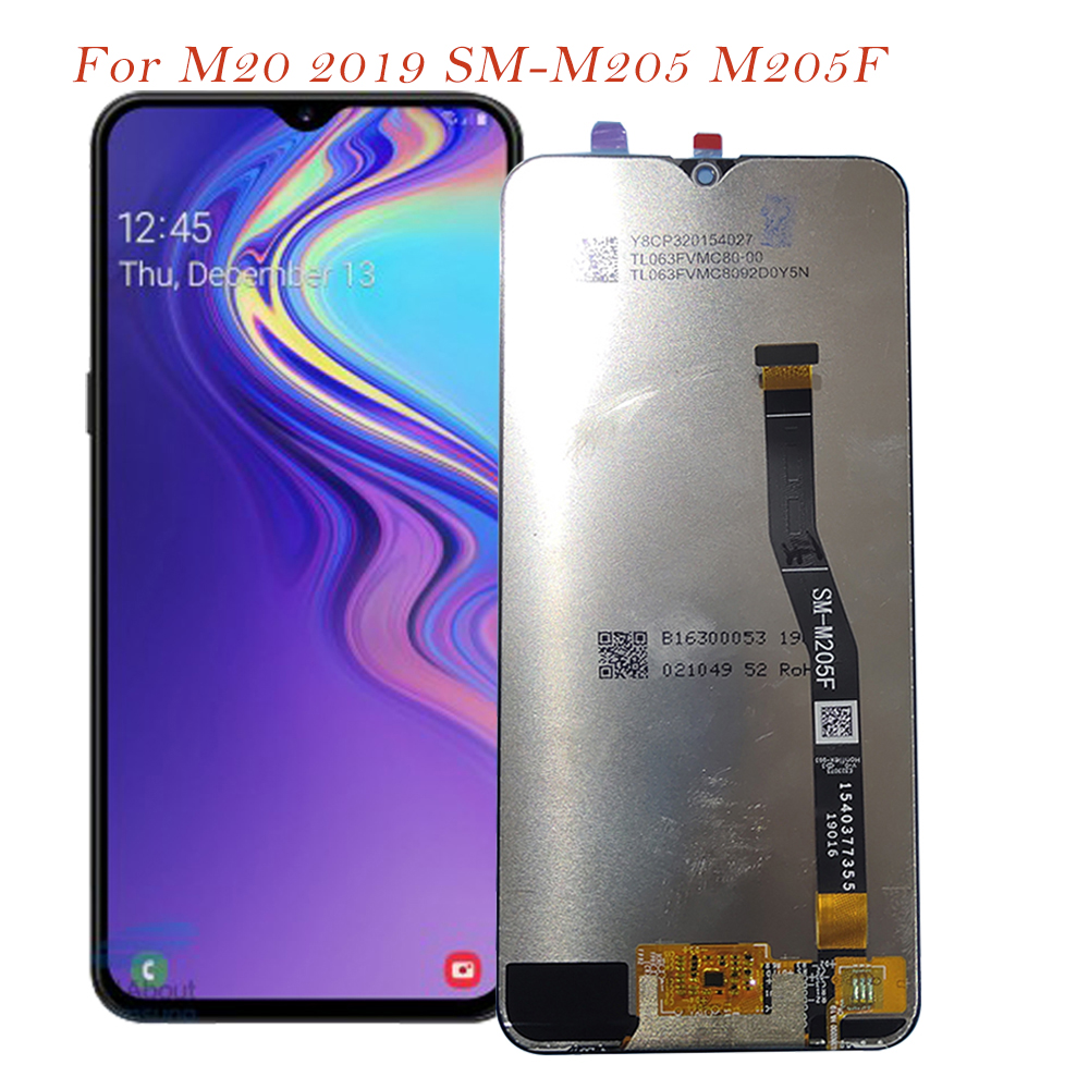 Test LCD Screen For Samsung Galaxy M20 2019 SM-M205 M205F Touch Screen Digitizer LCD Display For Samsung M20 M205 OriginalTest LCD Screen For Samsung Galaxy M20 2019 SM-M205 M205F Touch Screen Digitizer LCD Display For Samsung M20 M205 Original