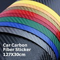 127*30CM 3D Carbon Fiber Vinyl Car Wrapping Foil Carbon Fiber Car Decoration Sticker Many Color Option Freeshipping