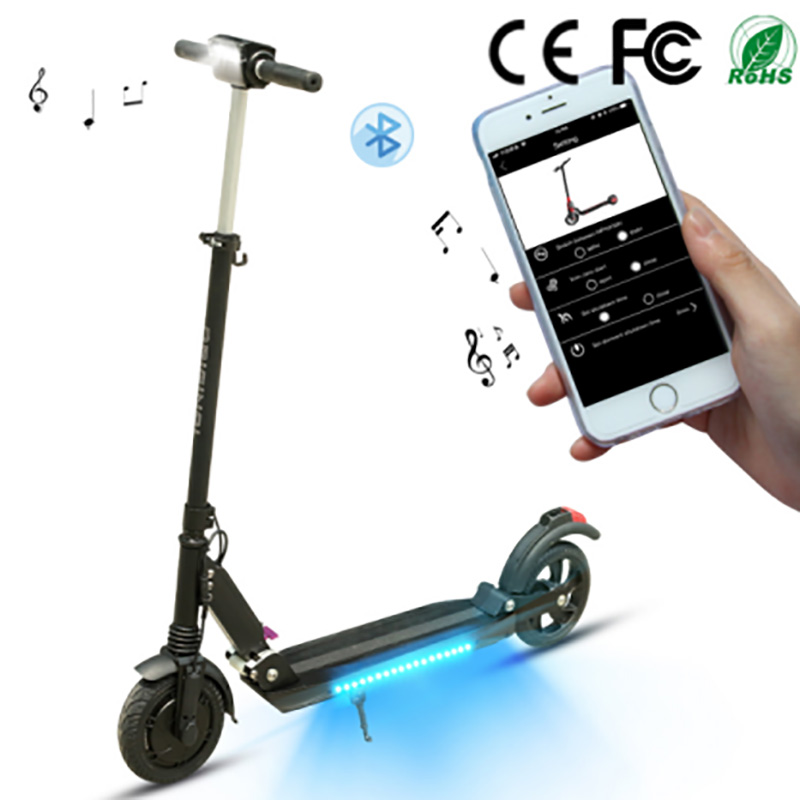 Fold <font><b>Electric</b></font> <font><b>scooter</b></font> Aluminium Alloy LCD <font><b>350W</b></font> 3 Speed Leve Max speed 35km/h Lithium Battery Double Brake Music Speaker image