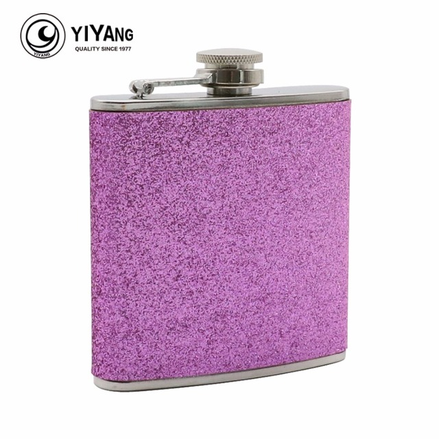 Pink Sequins Wrapped  6oz Stainless Steel Hip Flask Alcohol Whiskey Liquor Wine Drinkware Flasks Flagon Girl's Wedding Princess