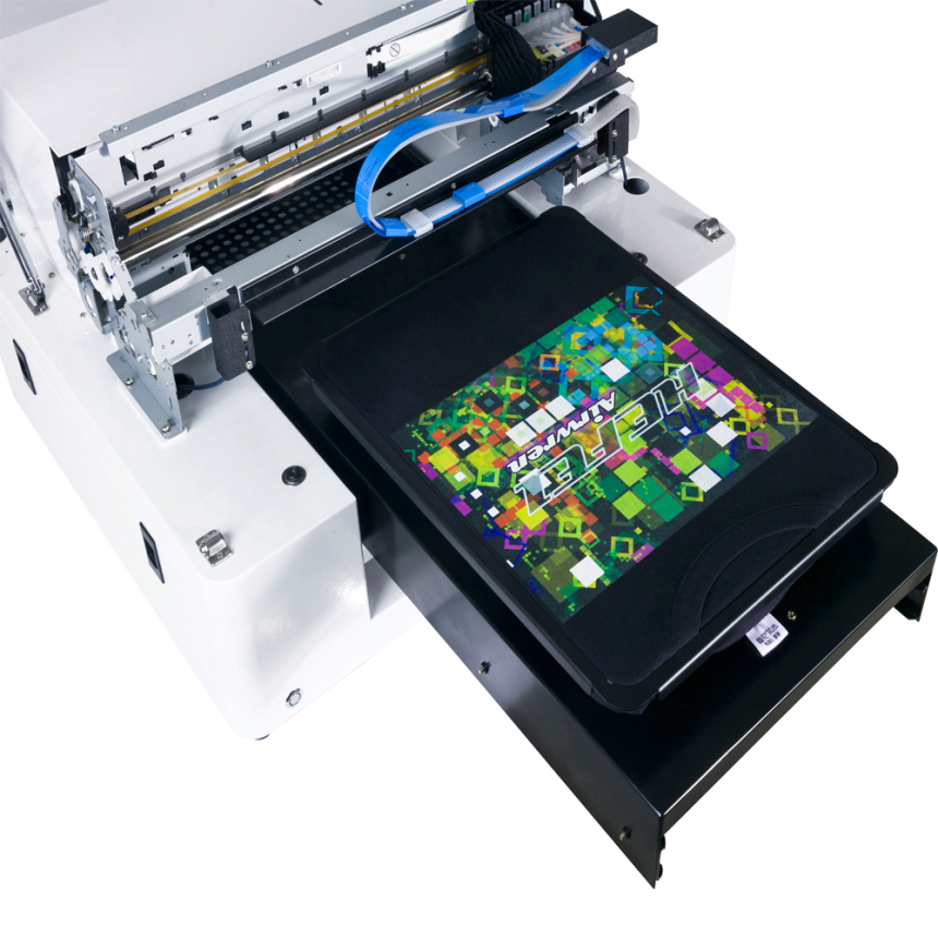 It is a graphic of Soft Fabric Label Printing Machine
