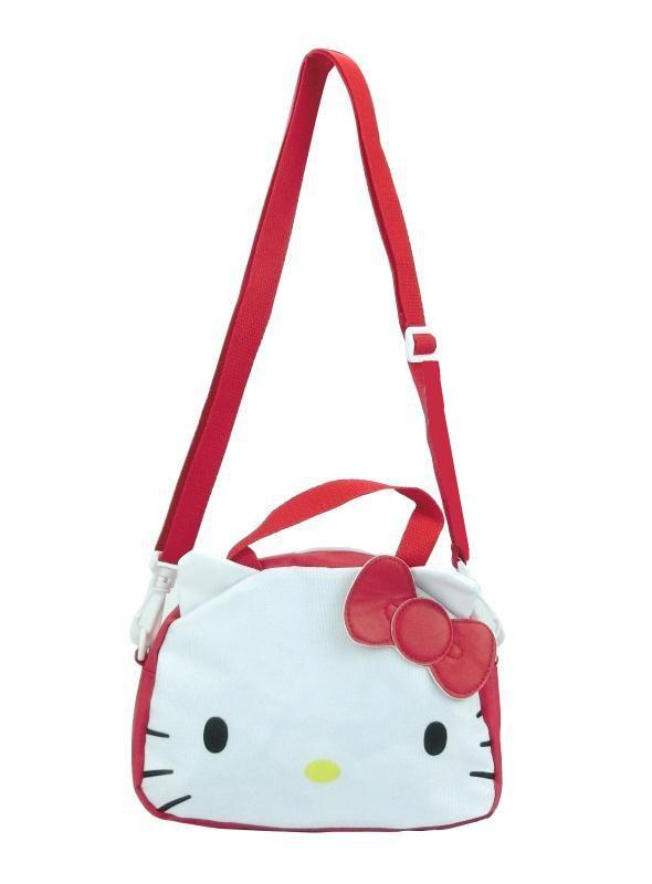 54f72edaa9ac Cute Cartoon Hello Kitty Canvas Toto Bag Handbag Shoulder Messenger Bag  Kids Travel Crossbody Bags for