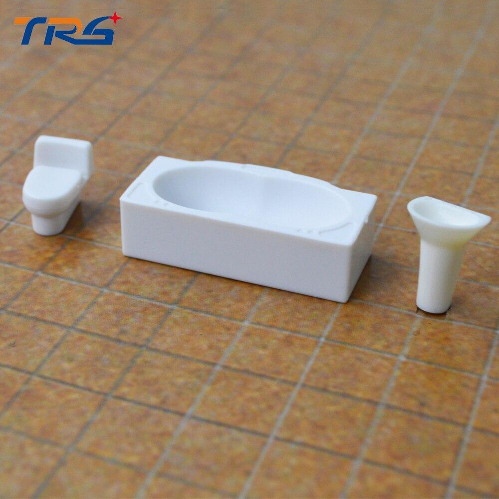 Hot sale 1:50 architectural model bathroom sets/wash basin,closetool,wash bathtube toys model furniture