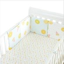 1 шт. детская кроватка бампер фруктовый узор детская боковая защита детская подушка длинный бампер детское постельное белье декор для детской комнаты Милая кровать