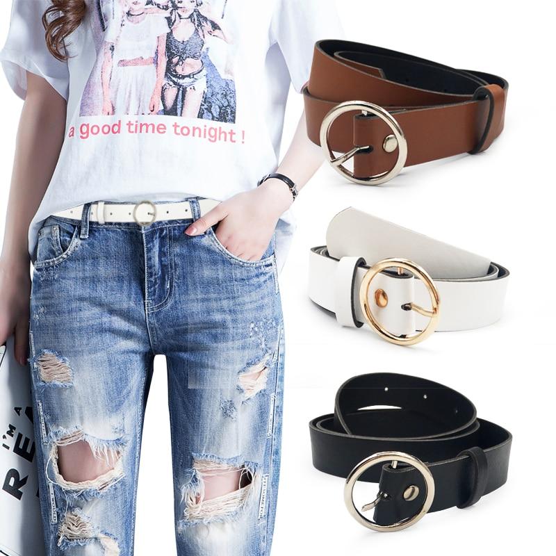 None Round Women Solid Fashion Buckle Waist Casual Shape   Belt   Riem Cinto Feminino Ceinture Femme Cinturon Mujer Harajuku Cinto