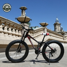 Amano La Libertà di Alta Qualità Della Bicicletta 21/24 Mountain Bike Velocità 26 Pollici 4.0 Grasso Pneumatico Da Neve Bike Doppio disco di Assorbimento Degli Urti bicicletta