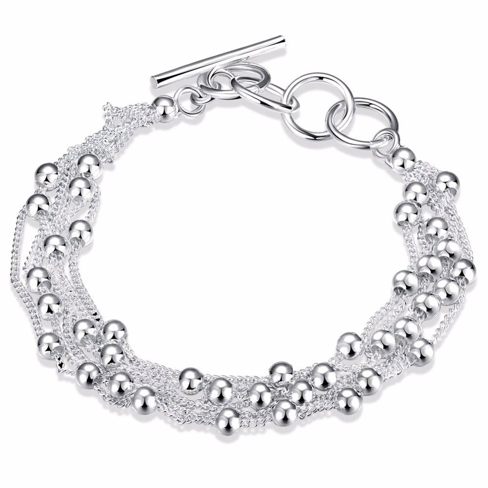 Wholesale Real Pure 925 Silver Bracelet for Women Fashion jewelry bracelet 925 silver jewelry CH101