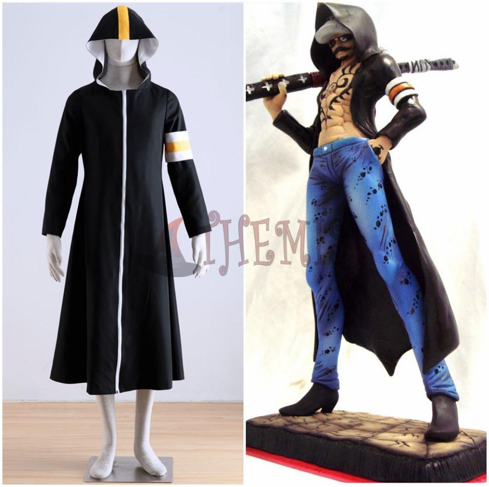 Athemis ONE PIECE Trafalgar Law (Trafalgar D Water Law) långa - Maskeradkläder och utklädnad