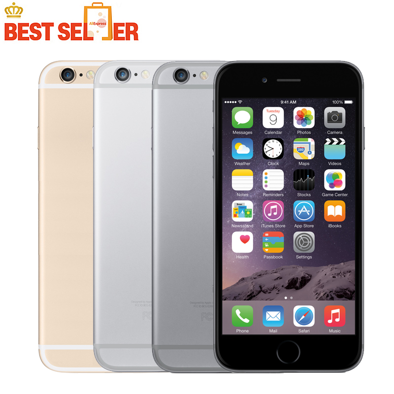 bilder für Original iPhone 6 Fabrik Entsperrt IOS Smartphones 4,7 zoll Touch Sreen Dual Core LTE WIFI Bluetooth 8.0MP Kamera