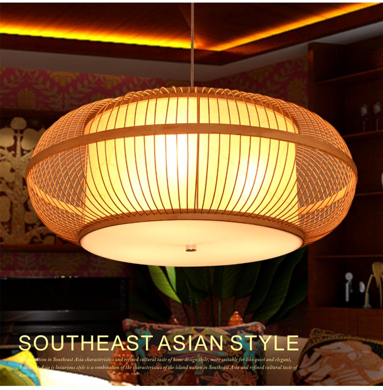 Bamboo Chinese style antique bamboo living room  Pendant lamps atmosphere modern study creative engineering Pendant Lights ZS66 new arrival modern chinese style bamboo wool lamps rustic bamboo pendant light 3015 free shipping