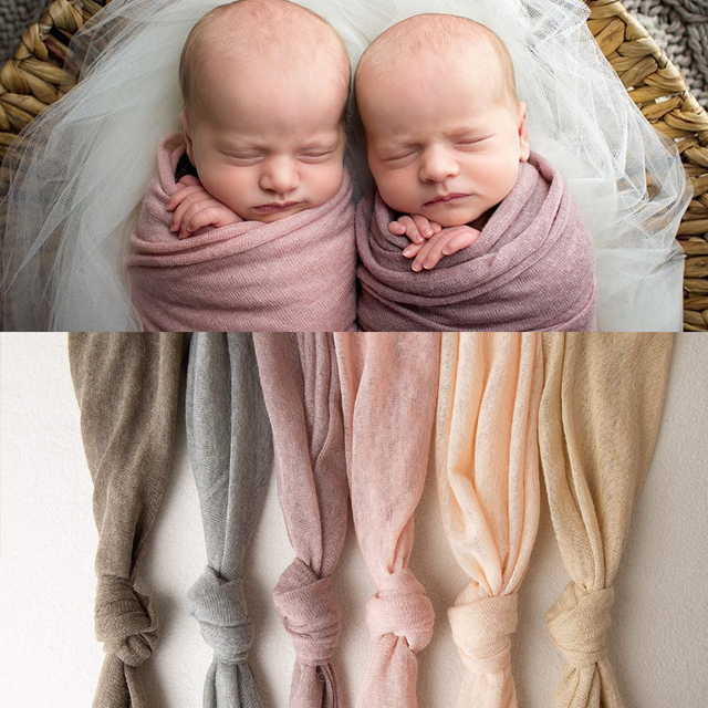 Newborn Photograpy Props Stretch Soft Wraps Maternity Gown Swaddle