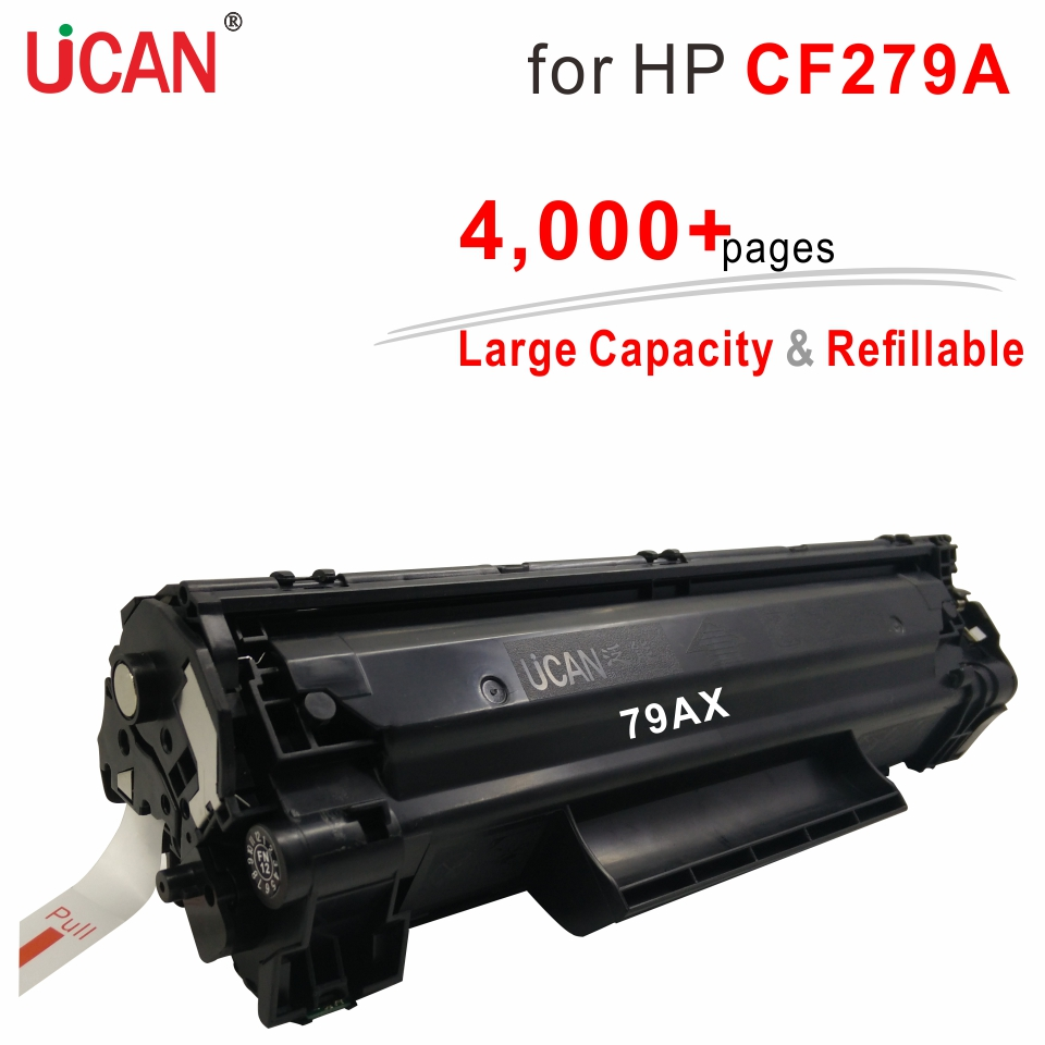 for HP Laserjet Pro M12a M12w M26a M26nw MFP Printer 79a 279a CF279A UCAN 4000 pages Large Capacity & Refillable Toner Cartridge use for hp 4730 toner cartridge toner cartridge for hp color laserjet 4730 printer use for hp toner q6460a q6461a q6462a q6463a