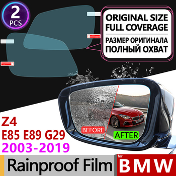 for BMW Z4 E85 E89 G29 2003-2019 Full Cover Anti Fog Film Rearview Mirror Rainproof Anti-Fog Car Accessories 2006 2008 2015 2018 image