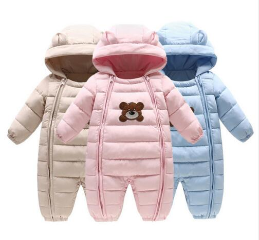 New Baby Winter Clothes Girl Boy Romper Warm Baby Winter Jumpsuit