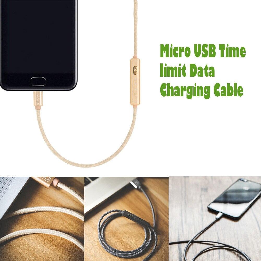 1 м ткачество кабель Универсальный Micro USB временной предел данных зарядный кабель USB путешествия быстрой зарядки линии для сотового телефоны...