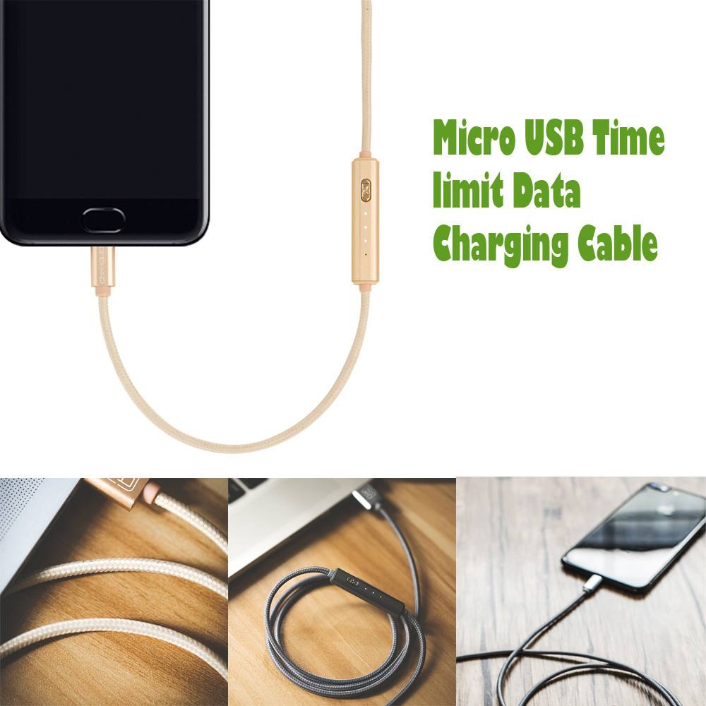 1M Weaving Data Cable Universal Micro USB Time limit Data Charging Cable USB Travel Fast Charging Line For Cell Phones #YL