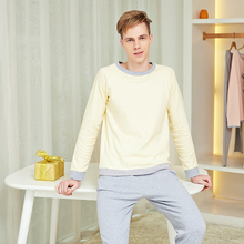 Mens Pajamas Sets Long Indoor Casual Lounge wear Quality Cot