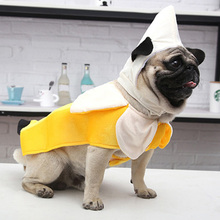 Pet Party Cosplay Costume Warm Hoodies Banana Tunic Funny Theme Fancy Dress Halloween Dog Clothes