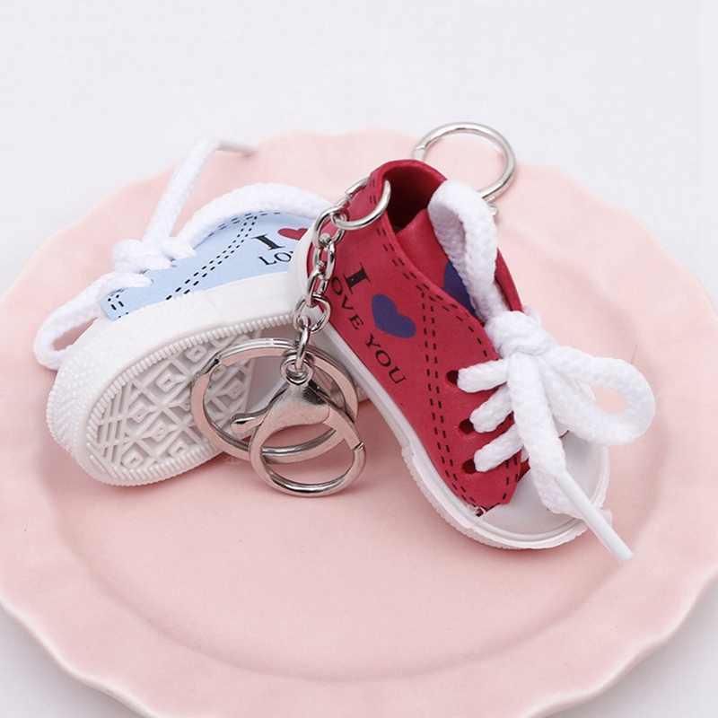 Mini zapatilla de deporte de silicona Jordan 6 llavero Cadena de llavero de coche los hombres mujer bolso encanto accesorios, llave anillos regalos colgantes