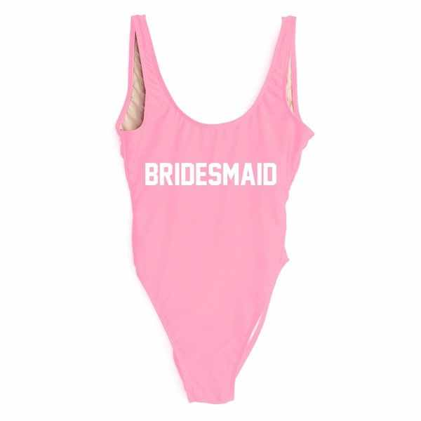 """وصيفه الشرف """"شعار طباعة واحد قطعة ملابس السباحة الكمال الزفاف الشاطئ العازبة الأطراف المايوه MONOKINI ثوب السباحة ملابس السباحة"""