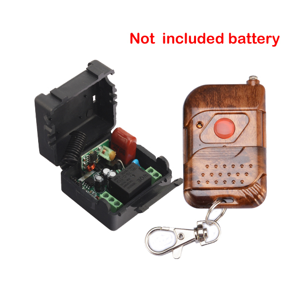 ge 18278 keychain remote transmitter with 1 outlet receiver rf Receiver & Transmitter 220V 1CH RF Wireless Remote Switch Momenrary Toggle Latched Adjustable Not With Battery
