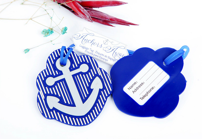 New Arrival Factory Directly Sale Wedding Favor Anchored Luggage Tag Advertising Promotional Luggage Tag Consignment Card